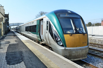 22035 on the 11:30 Dublin Heuston to Galway. Kildare, Friday, 25/03/11
