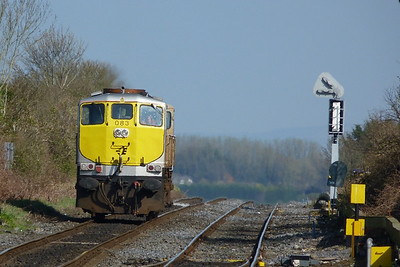 083 waiting to return to the station. Kildare, Friday, 25/03/11