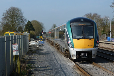 22040 on the 09:30 Dublin Heuston to Galway. Kildare, Friday, 25/03/11