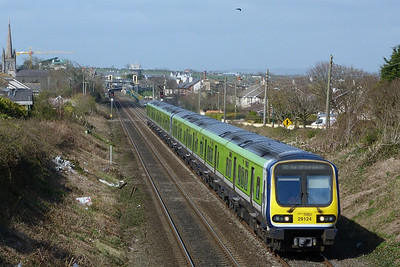 29124 on the 13:05 Drogheda to Dublin Pearse. Balbriggan, Wednesday, 30/03/11