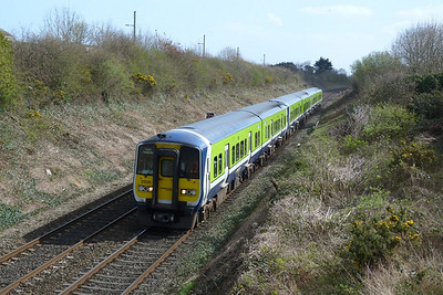 2806 on the 13:28 Dublin Pearse to Drogheda. Balbriggan, Wednesday, 30/03/11