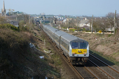 9003 on the 13:20 Dublin Connolly to Belfast Central. Balbriggan, Wednesday, 23/03/11