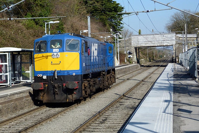 8113 returning to Belfast from Dublin, seen here passing through Portmarnock, Monday, 07/03/2011