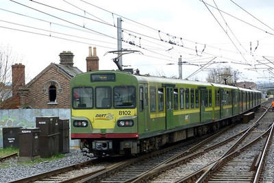 8102 working a service from Howth. Howth Junction, Monday, 21/03/11