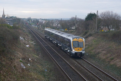 3001 on the 16:10 Belfast Central to Connolly. Balbriggan, Tuesday, 22/03/11
