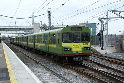 8321 on a service from Malahide. Howth Junction, Monday, 21/03/11