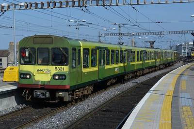 8331 on a Southbound DART service. Connolly, Thursday, 24/03/11