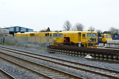 A line up of newish track equipment: 751, 744 and 790. Kildare, Friday, 23/03/12