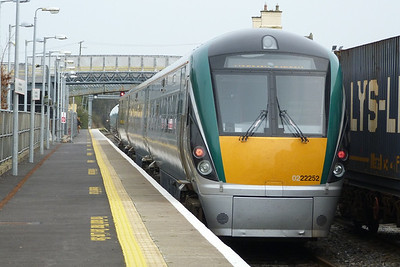 Another new set, 22052 passing through on the 11:05 Galway to Dublin Heuston, Kildare, Friday, 23/03/12