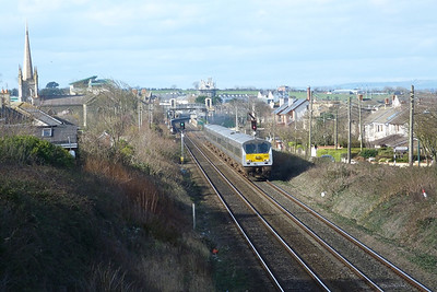 9002 on the 12:35 Belfast Central to Dublin Connolly. Balbriggan, Thursday 01/03/12