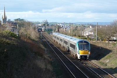 22044 on the Drogheda to Dublin Connolly ECS. Balbriggan, Thursday 01/03/12
