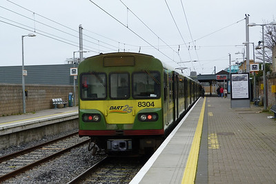8304 after arriving into Howth. Wednesday, 14/03/12