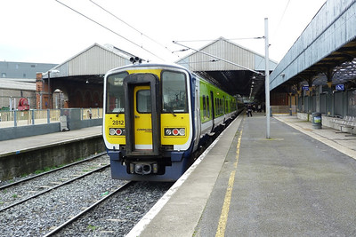 2812 after arriving into Dublin Connolly. Friday, 09/03/12