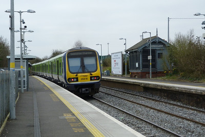 29416 departs Rush & Lusk on the 09:55 Dundalk to Dublin Connolly. Monday, 12/03/12