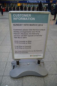 Notice at Connolly 14 March 2014