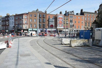 Luas XC track connected at St Stephens Green 26 March 2017