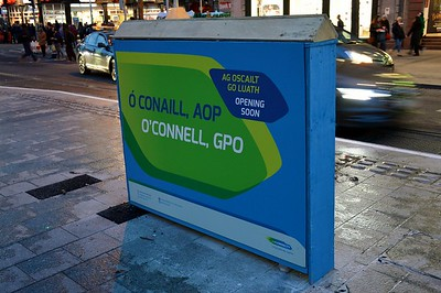 Luas XC O'Connell St signage 16 March 2017