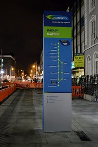 Luas XC Dawson St signage 16 March 2017