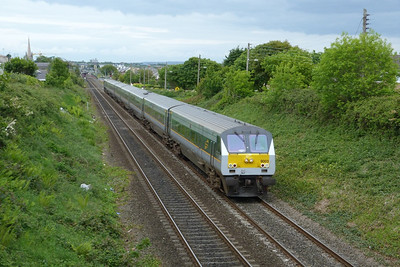 9003 on the 12:35 Belfast Central to Dublin Connolly. Balbriggan, Thursday, 19/05/11  The first Enterprise carriages arrived into Dublin just over 15 years ago on May 13th.