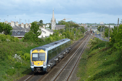 3023 on the 09:30 Dublin Connolly to Belfast Central. Balbriggan, Saturday, 14/05/11