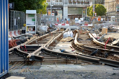 Luas X city works at St Stephen's Green 19 May 2016
