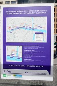 Luas XC notices Mayor Square 4 May 2016