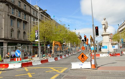 O'Connell St Luas XC works 4 May 2016