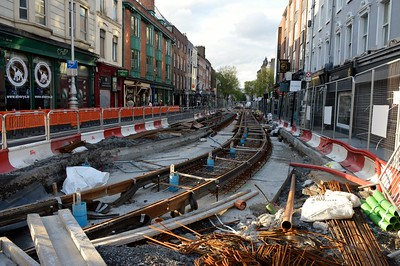 Luas X city works at Dawson St 19 May 2016