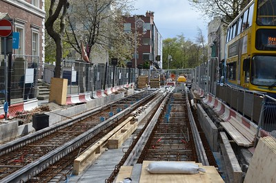 Dawson St Luas XC track works 4 April 2016