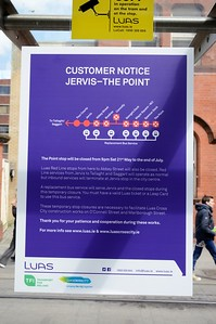Luas XC notices Busáras 4 May 2016