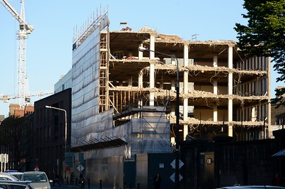 Demolition on Pearse St 4 May 2017