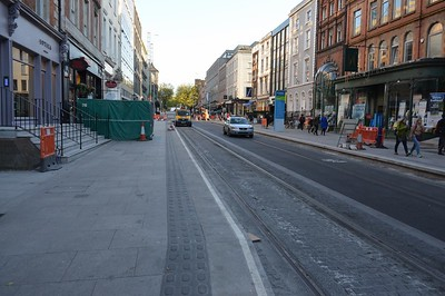 Luas XC works on Dawson St 4 May 2017