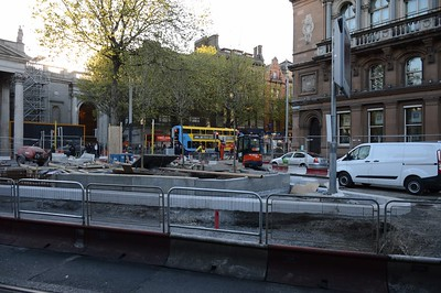 Luas XC works on College St 4 May 2017