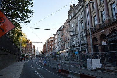 Luas XC works on Grafton St 4 May 2017