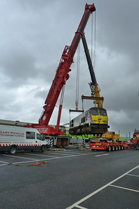 233 nearly in place at the low-loader, Connolly, Wednesday, 02/11/11