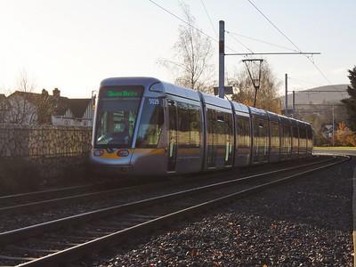 5029 runs along Murphystown Road 25 November 2020