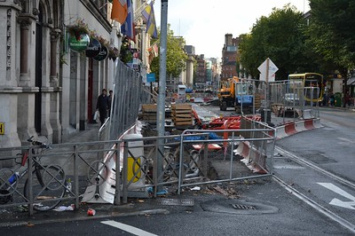 Luas XC works Westmoreland St 15 October 2016