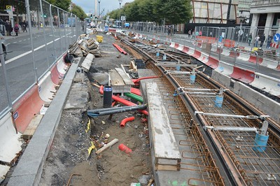 Luas XC northern junction O'Connell St 15 October 2016