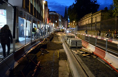 Luas XC works Nassau St 13 October 2016