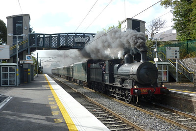 On Monday the tour went from Dublin Connolly to Belfast Central. Here it is passing through Portmarnock, Monday, 12/09/11