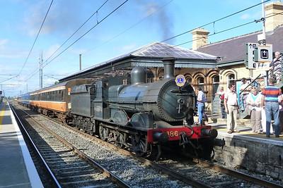186 back on its train. Malahide,Sunday, 07/08/11