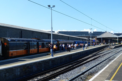 The RPSI Craven set in Platform 1 before running a tour to Kilkenny, Connolly, Saturday, 23/07/11