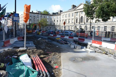 Luas XC western junction on Parnell St 25 September 2016