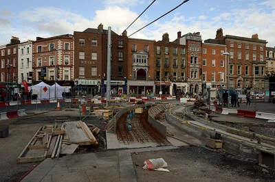 Luas XC works St Stephens Green 10 September 2016