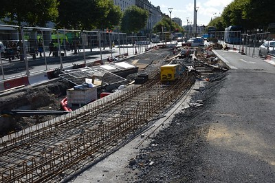 Luas XC northern junction O'Connell St 25 September 2016