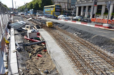 Luas XC northern junction on O'Connell St 25 September 2016