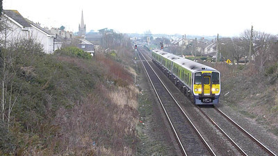 2815 departing Balbriggan on the 10:50 service to Dublin Connolly. Wednesday, 08/02/12