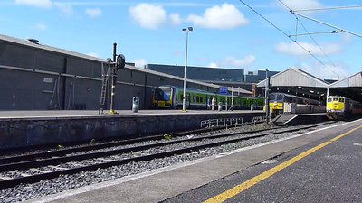 206 departs Dublin Connolly with the 10:00 Enterprise service to Belfast Central. With the introduction of the Mark 3 EGVs due soon, the Enterprise should become a bit quieter! Sunday, 15/07/12
