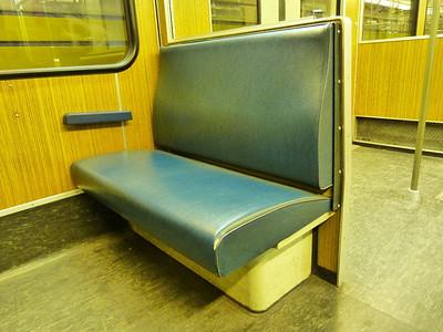 Seat on Munich Type-A U-Bahn, Wednesday, 04/05/11