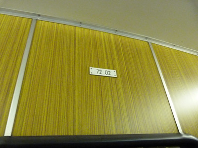 Interior number plate of 7202. Munich Type-A U-Bahn, Wednesday, 04/05/11